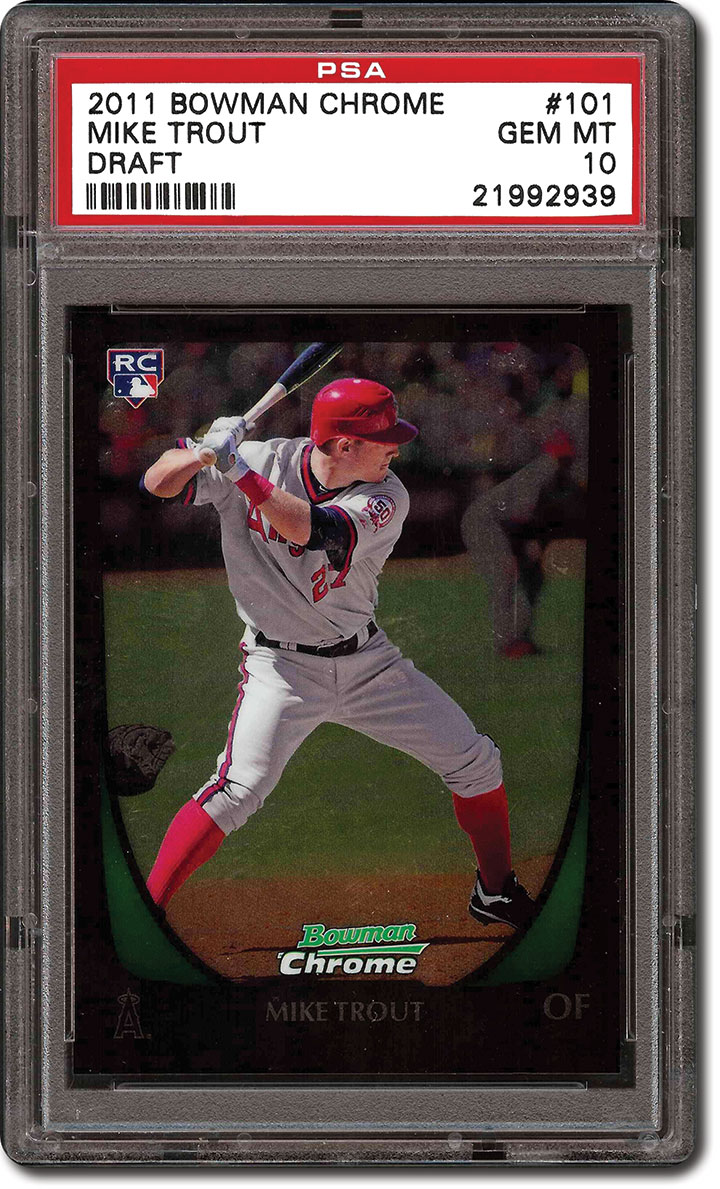 Psa Set Registry Collecting Mike Trout Reeling In The Best Cards