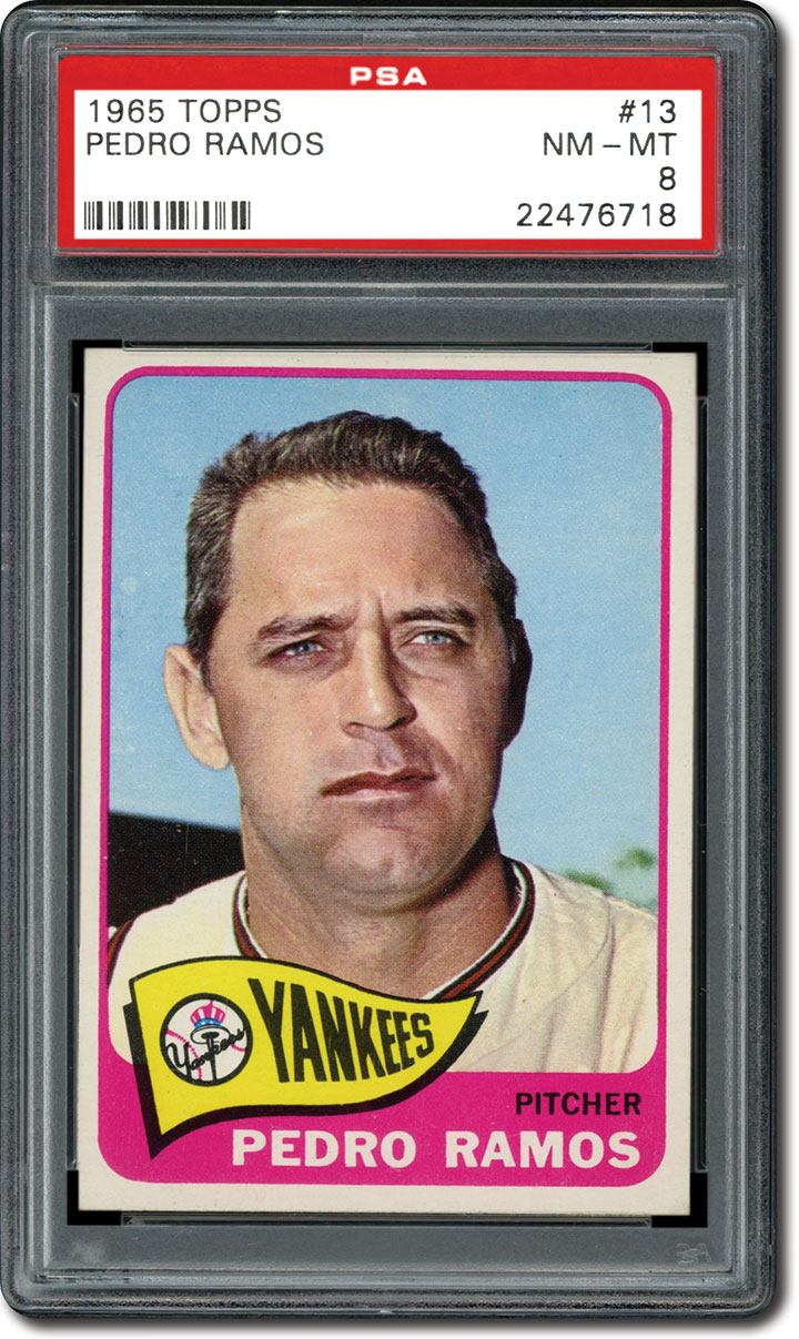 The 1965 topps baseball card set a banner year