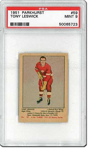 PSA Set Registry Collecting 1951 Parkhurst Hockey Cards