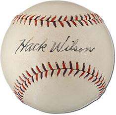 Wilson signed baseball