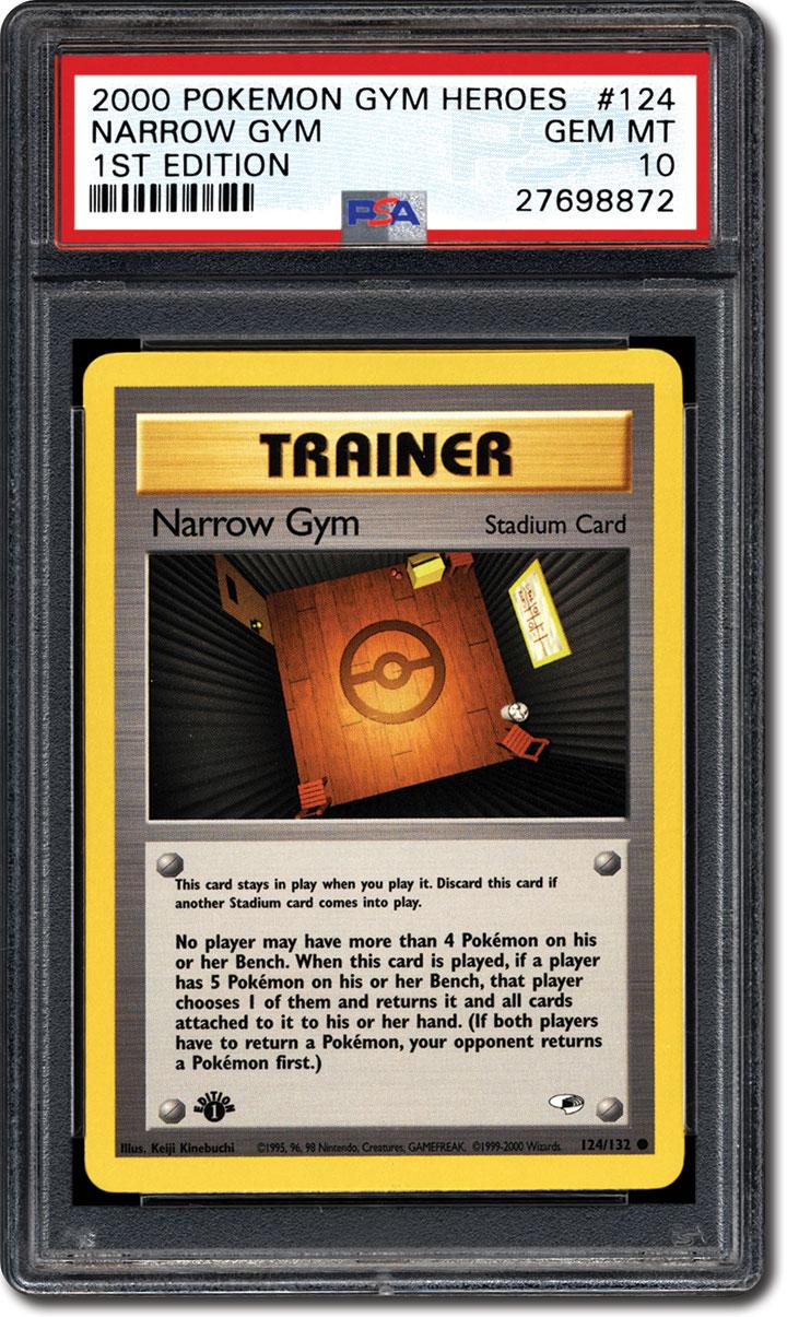 Pokemon Gym Heroes Common Card #124//132 Narrow Gym