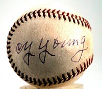 Cy Young Autographed Baseball