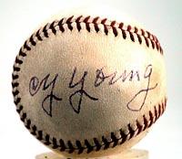 Cy Young Autographed Baseball